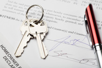 Photo of Lease Agreement and Keys